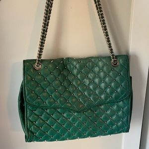 Green studded Rebecca minkoff bag!